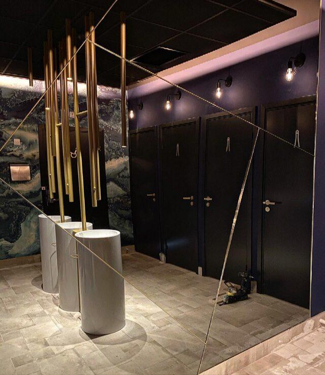 Toilet Room In Restaurant